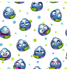 seamless pattern with funny cartoon characters vector image vector image