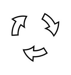 arrows cycle round process direction outline vector image