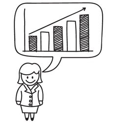 Businesswoman Growth Graph vector image