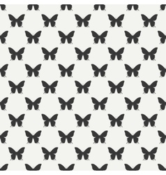 Monochrome abstract seamless pattern with vector image