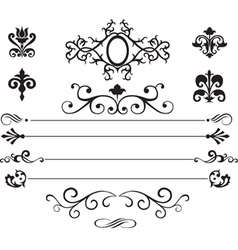 Set of patterns and vignettes vector image vector image