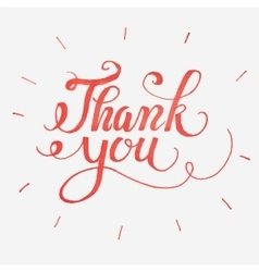 Thank you card Hand drawn lettering vector image
