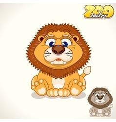 Cartoon lion character vector