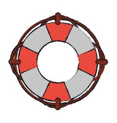 life buoy saving floating vector image