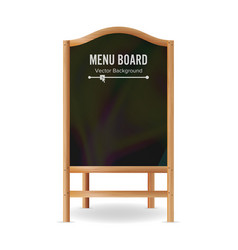 menu black board empty chalkboard blank vector image