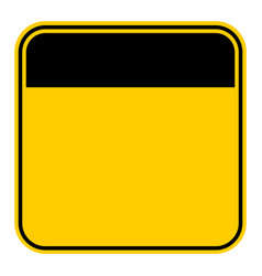 sticker empty safety sign vector image vector image