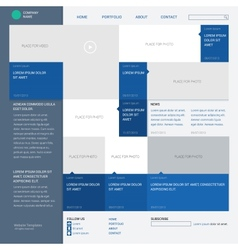 Template website built on the 16 column grid metro vector image vector image