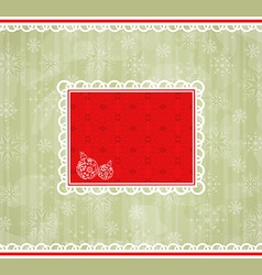 Christmas retro card ornamental design elements vector image