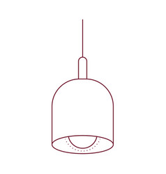 dark red line contour of pendant lamp vector image