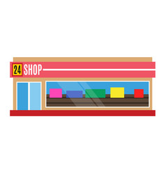 flat design restaurant shop facade icon vector image vector image