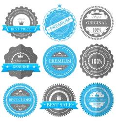 Premium quality guarantee badges vector image