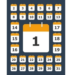 Set of calendar pages for every day vector image