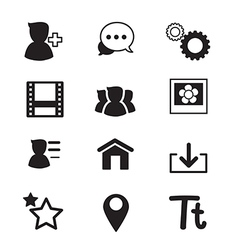 Social Network icons set vector image vector image