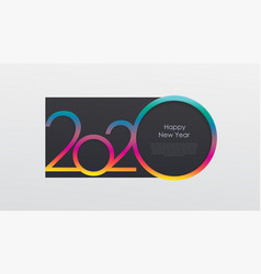 2020 holiday card calendar happy new year vector image