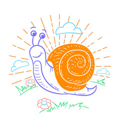 A snail that crawls vector