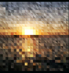 abstract geometric background - sunrise vector image