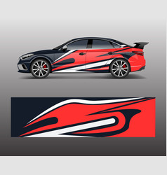 abstract racing graphic for sport car wrap design vector image