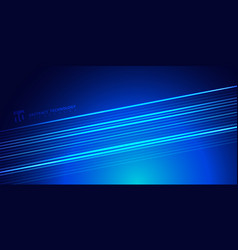 abstract striped bright blue glowing lines on vector image