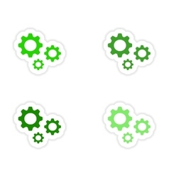 assembly realistic sticker design on paper vector image