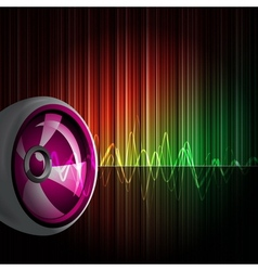 Background with speakers vector