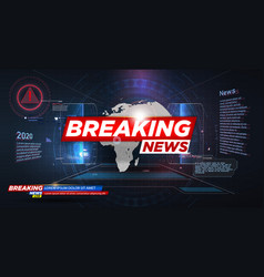 banner breaking news breaking news live on world vector image