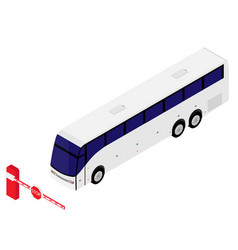 barrier and bus vector image