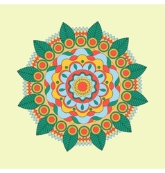 Beautiful Indian floral ornament can be used as a vector