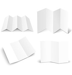 Blank white booklet set isolated on white mockup vector image vector image