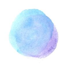 Blue and violet watercolor blot vector