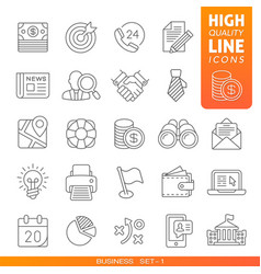 Business and finance high quality trendy line vector