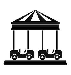 Car carousel icon simple style vector