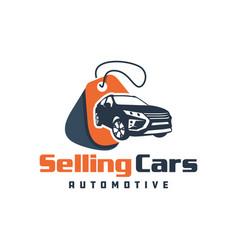 Car sales showroom logo vector