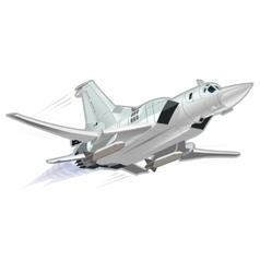 cartoon military airplane vector image