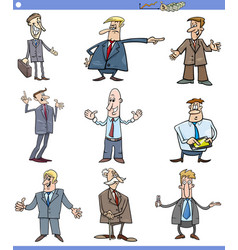 cartoon set of businessmen or men vector image
