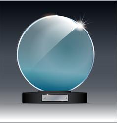 circle glass trophy award vector image