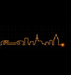 Cluj-napoca light streak skyline vector