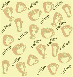 coffeePatternCups vector image