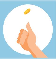 Coin Flip vector
