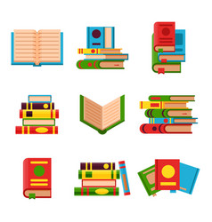 Colorful book learn literature vector