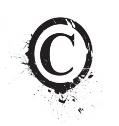 copyright stamp vector image
