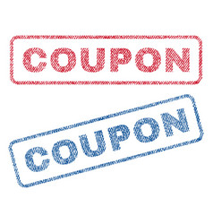 Coupon textile stamps vector