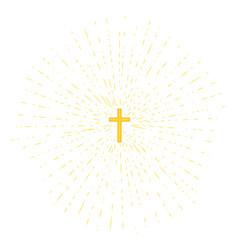 cross on yellow background vector image