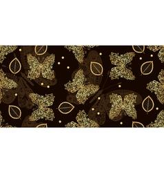 Dark brown seamless vintage pattern vector