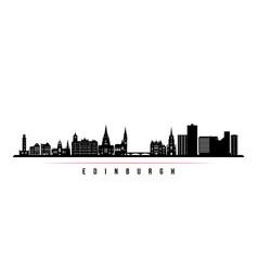 edinburgh skyline horizontal banner vector image