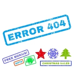 Error 404 Rubber Stamp vector