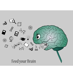 Feed your brain vector image