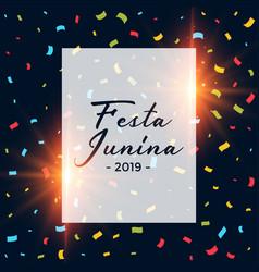 Festa junina confetti dark background vector