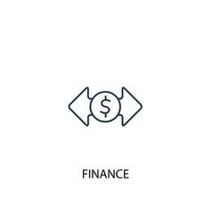 finance concept line icon simple element vector image