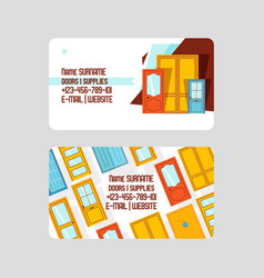 front doors for houses and buildings set of vector image