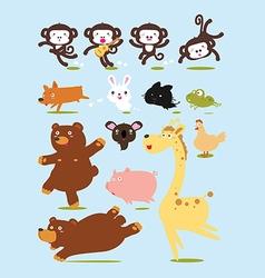 Funny Animals Cartoon vector image vector image